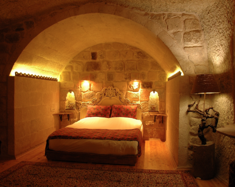 Cave House with Turkish Bath and Fireplace